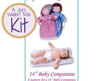 "Joy's Waldorf Dolls 14"" Baby Companion Doll Making Kit"