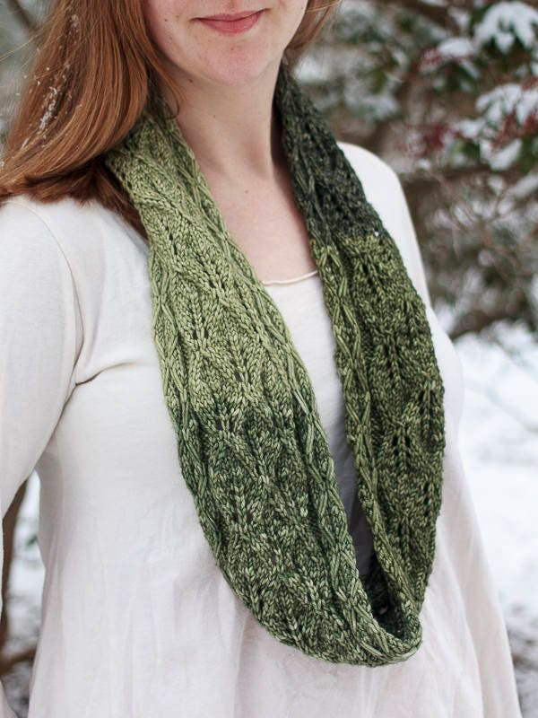 Druid Cowl One Skein Knitting Pattern Lace Cowl Pattern