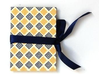Accordion Photo Book, classic Brag Book check orange blue