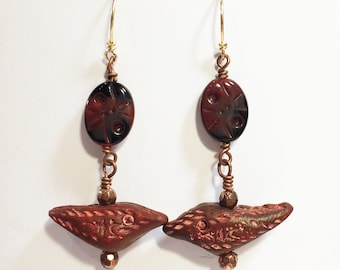 Polymer Clay Bird Earrings - Free Domestic Shipping