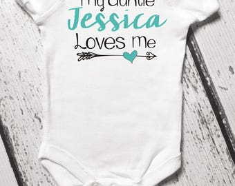 My auntie loves me etsy my auntie loves me baby bodysuit infant clothes aunt shirt for baby baby negle Images