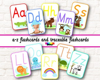 alphabet flash cards, a-z flash cards, traceable letters, letter sounds, phonics, ABC flash cards, letter formation, alphabet, printable