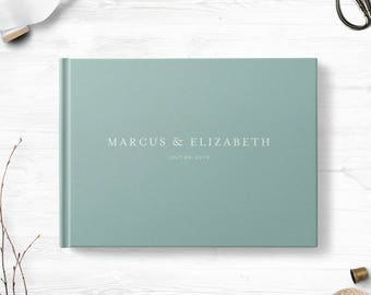 Blank wedding guestbook, Landscape, Wedding guest book, Various colors