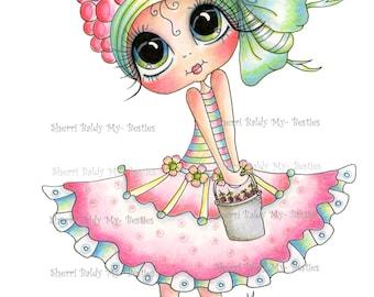 INSTANT DOWNLOAD Digital Digi Stamps Big Eye Big Head Dolls NEW Bestie  Img097 My Besties By Sherri Baldy