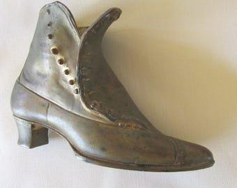 Vintage Mini Brass Lady's Button Down Shoe