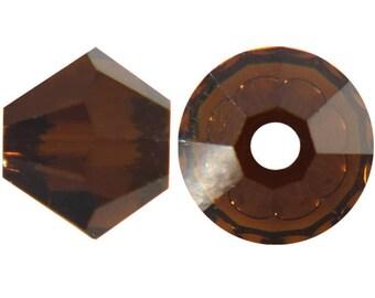 Swaovski Bicone bead mocca 4mm - Quantity of 60 beads