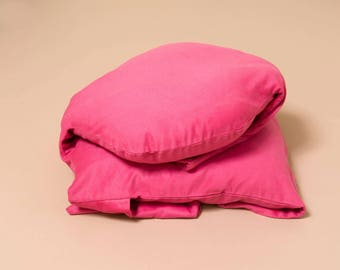 The cuddly beast double pillows/cushions blanket gift curl sleep NAP made in France hand made hand made
