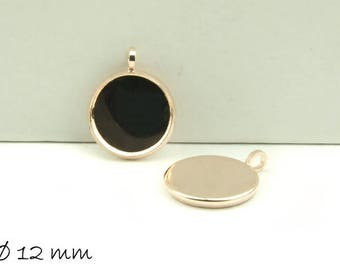 Pendant with version 12 mm rose gold