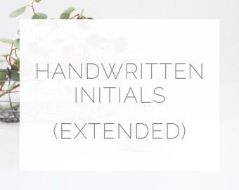 Handwritten Initials (extended)