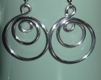 Wire Wrapped Triple Hoop Earrings MADE to ORDER