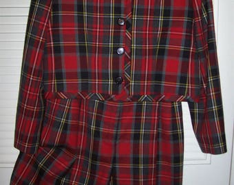 Jacket Shorts, 12, Plaid Tartan Wool Jacket and SHORTS! So Sharp and Preppy, by J H Collectibles - see details