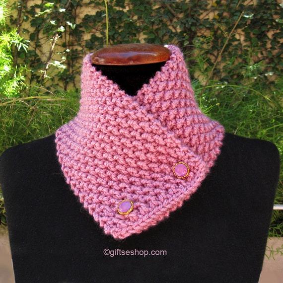 Stricken Sie Knopf Schal gestrickter Schlauchschal Muster