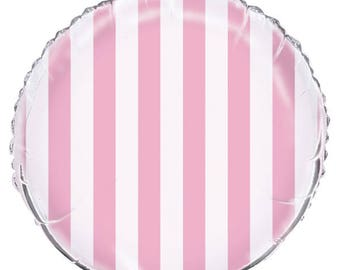 Pastel Pink Striped Balloon/ Carousel Party Balloon/ Pastel Party Carousel Balloon/ Pink Carnival Balloons