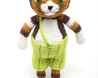 Findus cat toy  Crochet cat doll Stuffed  animal Home pet toy Author's toy Findus gift Findus figurine Plushie cat Soft toy Christmas gift