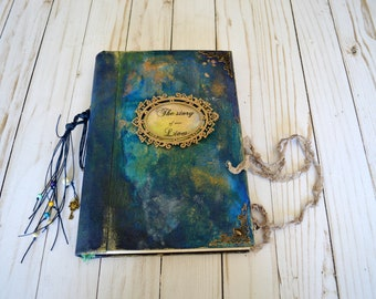 Handmade journal diary book guest book wedding book fairytale journal story of our lives