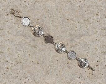 Medium round cabochon 14 mm bracelet