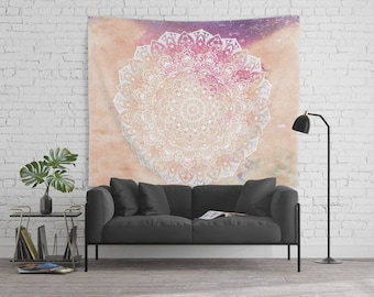LEO CONSTELLATION MANDALA - Horoscope Bohemian Wall Tapestry