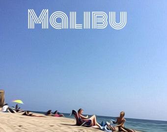Malibu Beach Day Poster