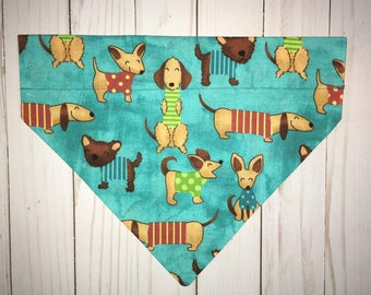 Dog Bandana, Dachshund Dog Bandana, Pet Bandana, Bandana, Doxie, Boy Dog Bandana, Sausage Dog Bandana