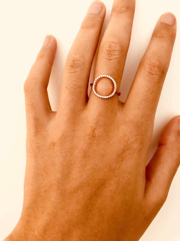 bague anneau vid bague oxyde de zirconium bague cercle. Black Bedroom Furniture Sets. Home Design Ideas