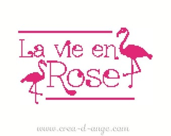Life in pink - cross stitch chart