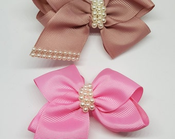 Accessories for hair clip/fermacapelli for baby girl pink/Bronze
