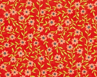 Daisy Chain Coral Bells fabric from the Tucker Prairie fabric collection by One Canoe Two for Moda Fabrics #36004-15
