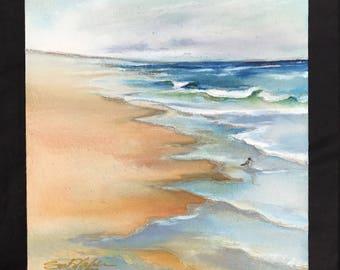 Morning Walk      10 x 12       Original Watercolor Batik