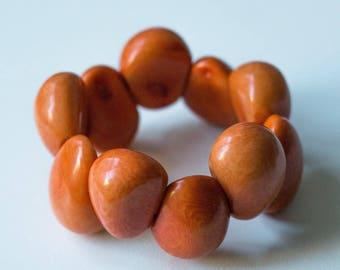 Tagua Nut stretch Bracelet (0146)