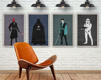 Star Wars Art Print. Darth Vader. Pop Culture and Modern Wall Decor, 11x17, 13x19, 16x20, 18x24, A1 Size. Select a size. Item no. 062