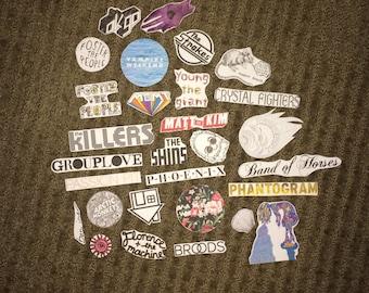 Indie Bands Sticker Pack