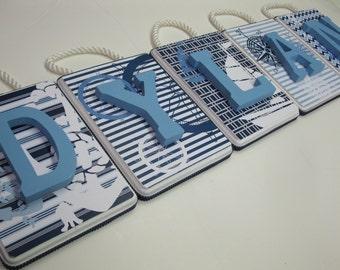 Nautical Letter Plaques- SOLD PER LETTER