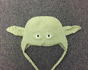 Yoda Inspired Criochet Hat