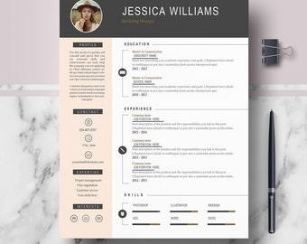 resume template cv template professional modern résumé