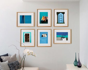 Turquoise 6 Mix Print Collection.  Architectural photography, detail, turquoise blue, decor, wall art, artwork, large format photo.