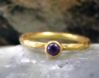 Handmade Turkish Designer jewelry Ametyst 925K Sterling Silver Ring HiddenJewellery Design