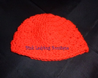 Hand Crocheted Baby Hat - Red -  Ready to Ship