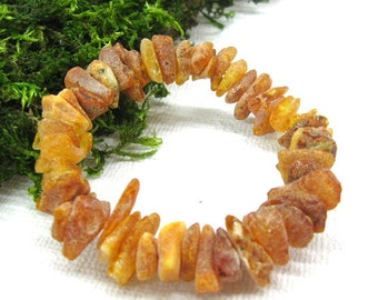 Natural Raw Amber Bracelet stone chip bracelet handmade amber jewelry untreated unprocessed healing amber jewelry get well gift for woman