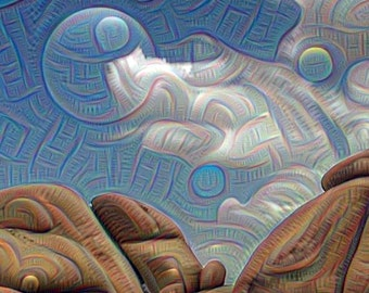 Note Cards, Deep Dreaming of Joshua Tree