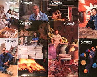 Ceramics Monthly Magazines - 10 Issues Complete Year of 1991