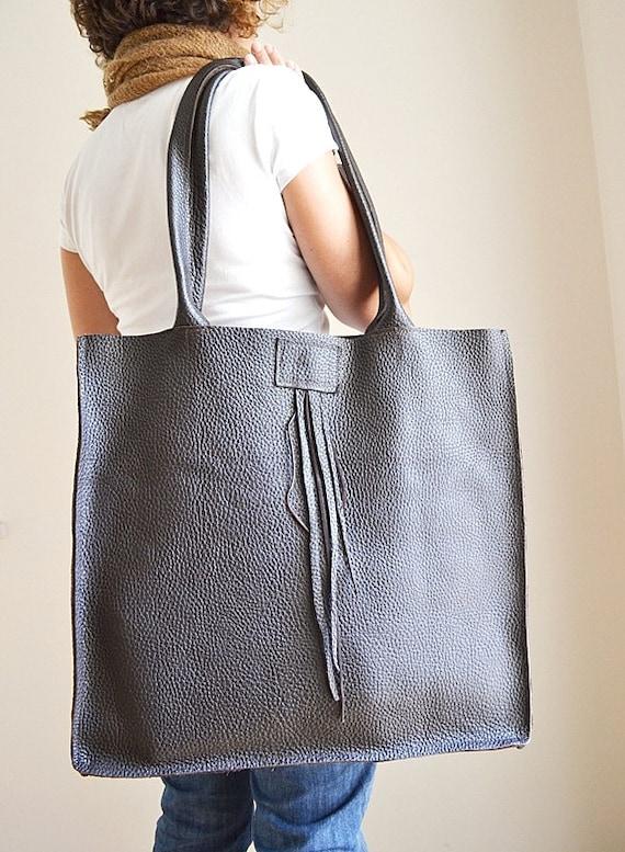 Items similar to Dark Brown Leather Extra Large Handmade Tote Bag Shoulder  Bag Project Bag – Dark Brown Man Leather Tote Bag on Etsy c655791c1600a