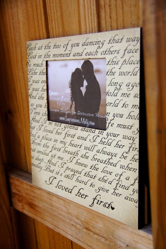ANY Song Lyrics Picture Frame, Personalized Gift, Custom Frame ...