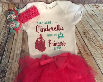 Cinderella inspired bodysuit and tutu set