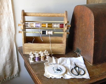 Wooden Spool Caddy ~ from Notforgotten Farm™