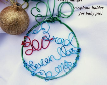 Baby Statistics Ornament for Baby's First Christmas Baby Gift With Name & Weight Personalized   New Parents Keepsake