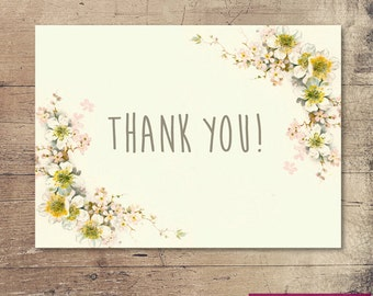 Vintage Blossom Thank you Card
