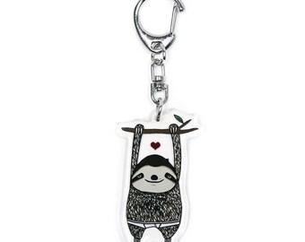 Sloth acrylic Keychain by Crywolf