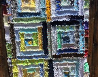 Flannel Log Cabin Crazy Quilt