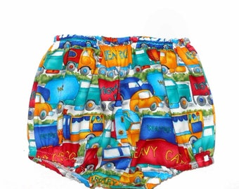 Cute Carolina Kids Boutique Baby Boys Car Truck Bloomers Diaper Cover infant toddler
