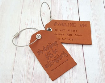 Oh Darling Lets Be Adventurers Luggage Tag